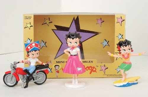 Precious Kids 31303 4 Betty Boop PVC Figurines 3 piece set