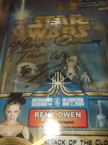 Star Wars Attack of the Clones Taun We Kamino Cloner Figure Autographed by Rena Owen