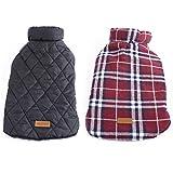 #8: Generic Pet Dog Waterproof Reversible Plaid Jacket Coat Winter Warm Clothes Red S