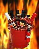Blazing Bucket of Fire Hot Sauce Basket