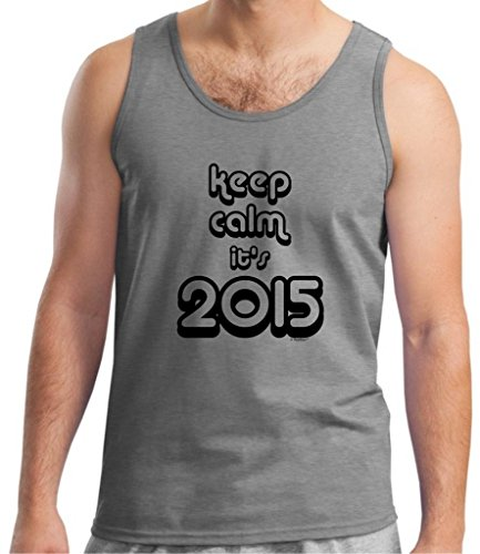 Keep Calm It'S 2015 Tank Top Large Sport Grey