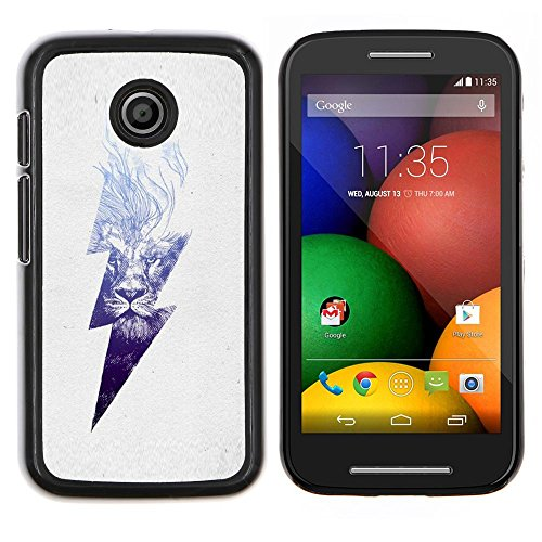 Stuss Case / Premio Sottile Slim Cassa Custodia Case Bandiera Cover Armor PC Aluminium - Danger High Voltage Blitz - Motorola Moto E