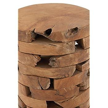 Deco 79 Teak Wood Stool, 14 by 18-Inch