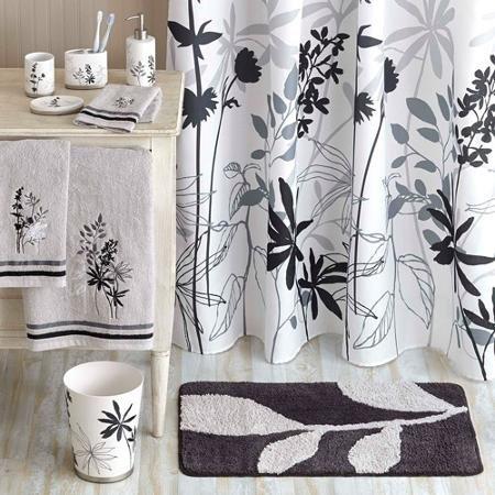 Durable Decorative Tranquil Leaves Microfiber Soft Bathroom Polyster Rug