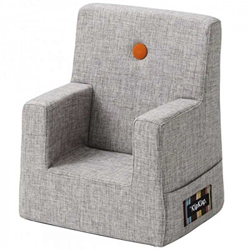 by KlipKlap Kids Chair - Multigrey With Orange Button