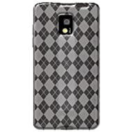 Amzer AMZ91071 Luxe Argyle High Gloss TPU Soft Gel Skin Case for LG Optimus 2X P990 (Clear)