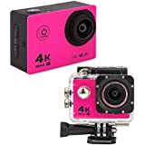 MARVUE MA30 4K WIFI Sports Action Camera FULL HD 1080P 60fps 16MP Waterproof Digital Video Recorder BLACK RED