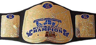 WWE Mini Smackdown Tag Team Title Replica Belt WWF ECW (Wwe Mini Replica Belts compare prices)