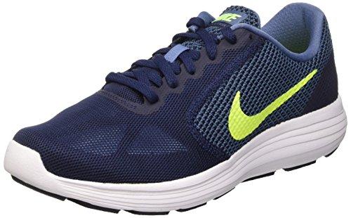 Nike Revolution 3, Men's Running Shoes, Bleu (Ocean Fog/Volt/Obsidian/White 401), 8 UK