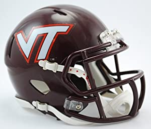 Creative Sports Enterprises, Inc RC-VIRGINIA-TECH-MR-Speed Virginia Tech Hokies Riddell Speed Mini Football Helmet by Creative Sports