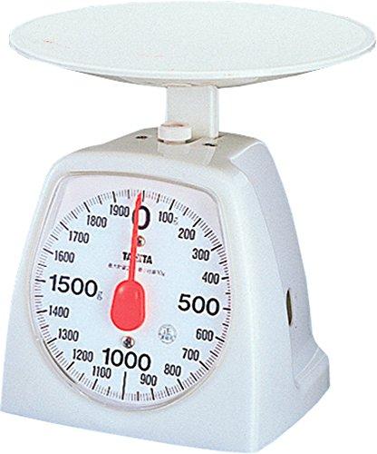 タニタ アナログクッキングスケール 2kg ホワイト 1439-WH