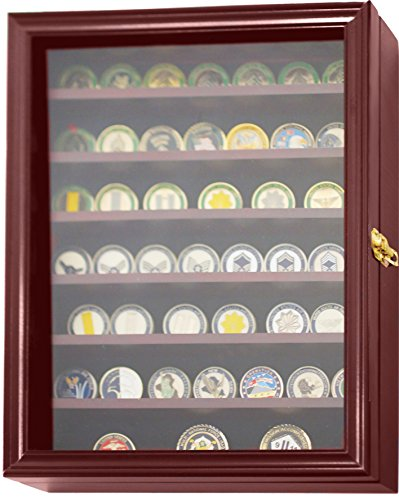 DECOMIL - 56 Military Challenge Coin Display Case Cabinet Rack ...