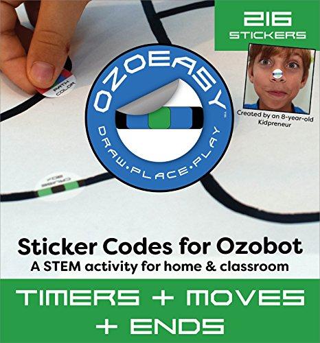 오조봇 코딩용 스티커 - Ozoeasy Sticker Codes (Timers + Moves + Ends Pack) for use with Ozobot