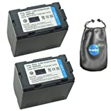amsahr ValuePack (2 Count): Digital Replacement Camera & Camcorder Battery for Panasonic CGR-D320, CGR-D320A/1B, CGR-D320E/1B, AG: DV1DC, DVC15, DVC30, DVC60, DVC62 - Includes Lens Accessories Pouch