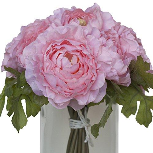 4th anniversary: Ranunculus Silk Bouquet - Pink