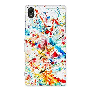 Paint Scribble Multicolor Back Case Cover for Sony Xperia Z1