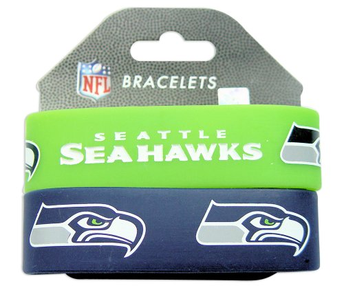 Seattle Seahawks Rubber Wrist Band (Set of 2) NFL at Amazon.com