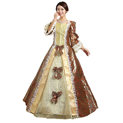 Xnaihuafei Luxury Medieval Renaissance Gown Queen Dress Vampire Costume Victorian Gothic Lol/marie Antoinette/civil War/colonial Belle Ball
