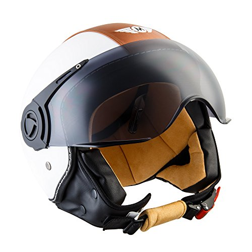 moto-helmetsh44-vintage-white-casque-jet-scooter-pilot-chopper-bobber-mofa-cruiser-vintage-moto-helm
