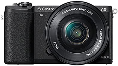Sony ILCE5100L Compact System Camera (24.3 MP, 180 Degrees Tiltable LCD, Fast Hybrid Auto Focus, Noise Reduction Feature, Wi-Fi and NFC) - Black