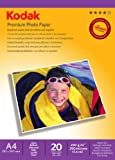 Kodak Premium Inkjet Photo Paper (20 Sheets, A4, 240 g)