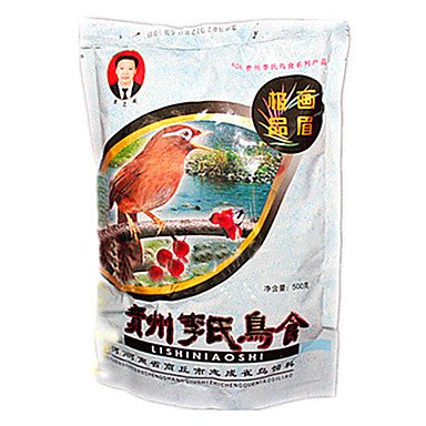 Zcl Stylish Food Feed For Pets Birds 500G , Brown , S