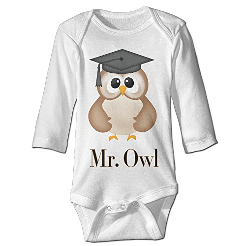 [Mr.owl Cute Boy And Girl Infants Climb Clothes 6 M White] (Dances With Wolves Costumes Designer)