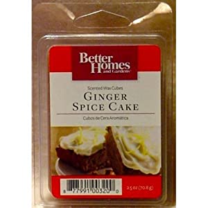 Better homes and gardens ginger spice cake - Better homes and gardens scented wax cubes ...