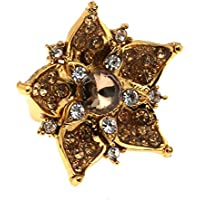 Bindhani Traditional Adjustable Gold Plated Finger Ring For Women