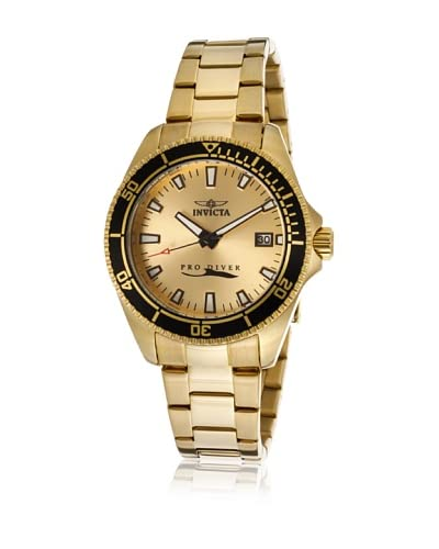 Invicta Women's 15138SYB Pro Diver Gold-Tone/Gold-Tone 18kt Gold Plated Stainless Steel Watch