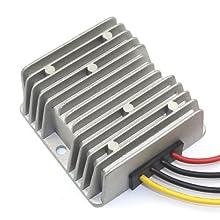 DROK 090065 10A DC Synchronous Buck Converter Regulator 10-35V 12V/24V to 9VDC Power Supply Module