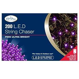 Benross The Christmas Lights 200 Ultra Bright LED String Chaser Lights - Purple by Benross Marketing Ltd