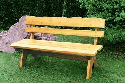 Gartenbank FREITAL 120cm 2-sitzer, Kiefer massiv 35mm von gartenmoebel-einkauf - Gartenmöbel von Du und Dein Garten