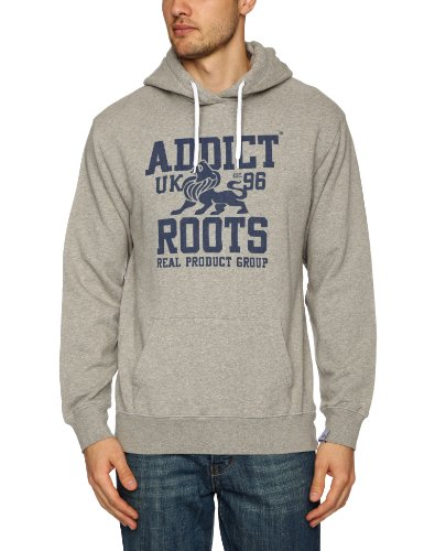 Addict Roots Hoody Men's Sweatshirt Grey Marl Large