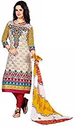 Fashionx Women Cotton Printed Unstitched Dress Material(1703_Multi-Coloured_Free Size)