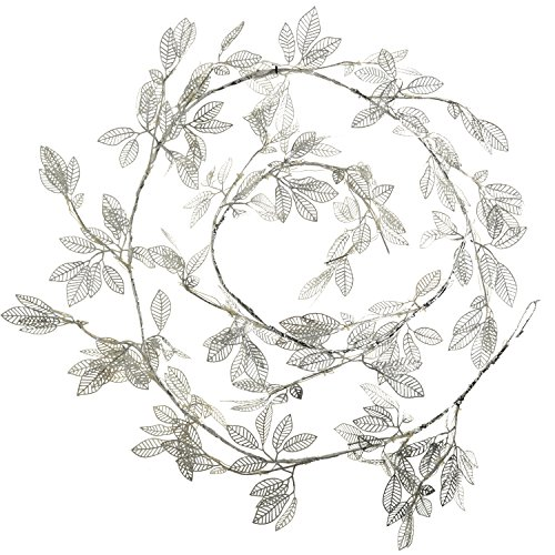 werchristmas-pre-lit-christmas-decoration-garland-with-54-white-led-lights-9-ft-silver-leaf