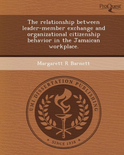 The relationship between leader-member exchange