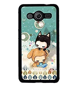 PRINTVISA The Embarasing Girl Premium Metallic Insert Back Case Cover for Samsung Galaxy Core 2 - G355H - D5723