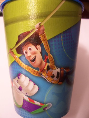 Disney Toy Story 16 Oz Plastic Cup by Hallmark (Buzz & Woody Hanging Out)