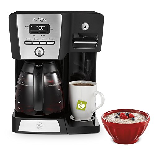 Mr. Coffee BVMC-DMX85 12-Cup Programmable Coffeemaker with Integrated Hot Water Dispenser, 16 ...