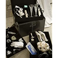 Wedding Keepsake Storage Chest with Three Velvet Covered Trays