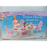 Barbie Size Dollhouse Furniture- Dining Room