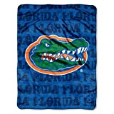 NCAA Florida Gators 46-Inch-by-60-Inch Micro-Raschel Blanket, Grunge Design at Amazon.com