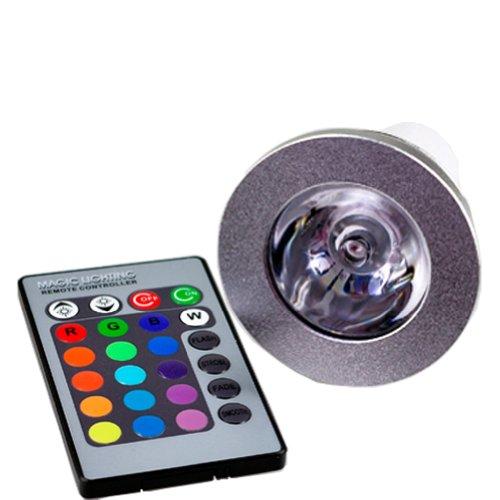 New 3W E27/Gu10/E14 Led Rgb Light Color Changing Bulb Lamp+ Ir Remote Control (Gu10)