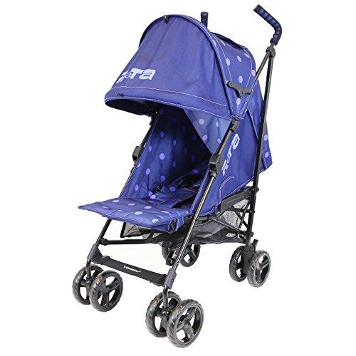 Zeta Vooom - Navy Dots (2017) Stroller Buggy Pushchair From Birth