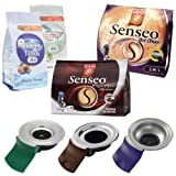 Senseo Pod Holder + Pods Set Normal (HD7810, HD7811, HD7812) for Hot Choco, Espresso, Tea Pods