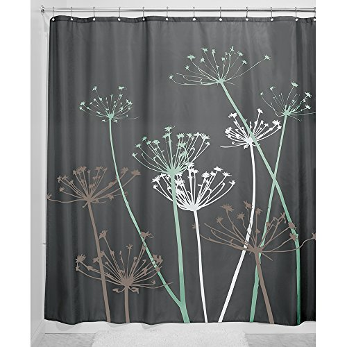 InterDesign Thistle Fabric Shower Curtain 72 X 72 Inch