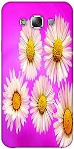 Snoogg Daisies Designer Protective Back Case Cover Forsamsung Galaxy E7
