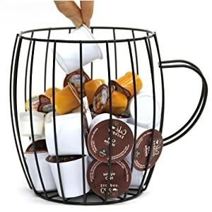 Wire Coffee Pod Holder and Organizer in Coffee Mug Shape for the Kitchen