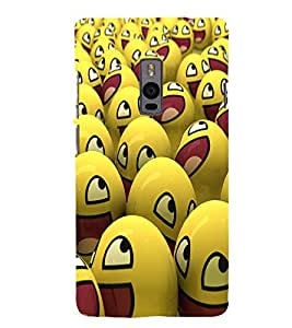 Smile Ball 3D Hard Polycarbonate Designer Back Case Cover for OnePlus 2 :: OnePlus Two